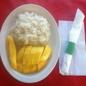 Thai Sticky Rice with Mango - <em>Steamed sticky rice with coconut milk & sugar served with fresh mango (Seasonal)<br></em>