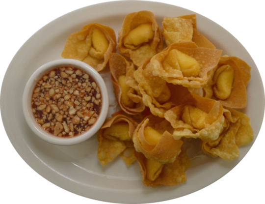 4. Fried Chicken Wontons